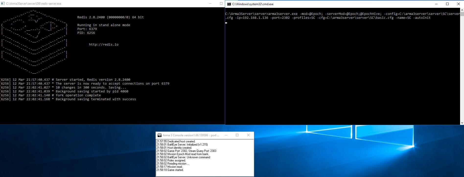 Server Installation/Connection Issue - Server Install - Epoch Mod
